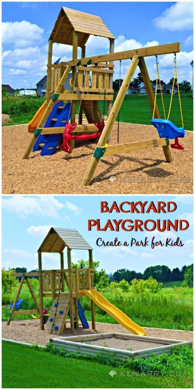 Adorable DIY Backyard Playground