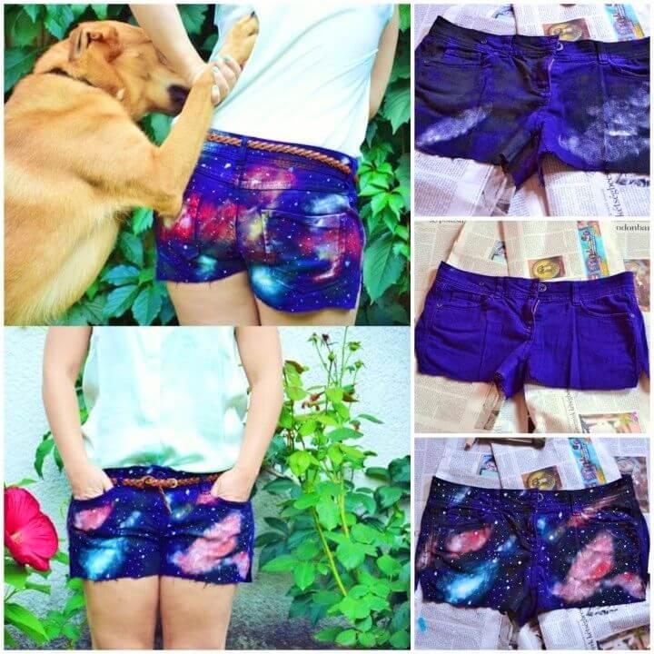 Adorable DIY Galaxy shorts