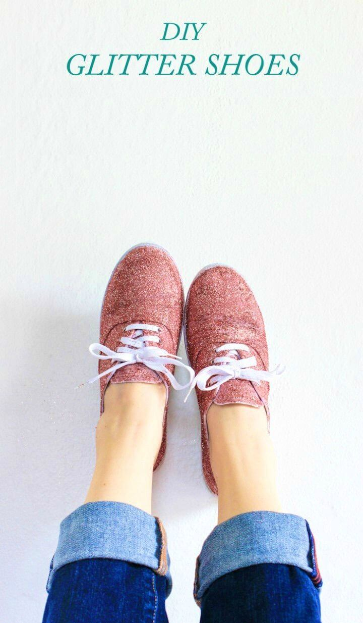 Adorable DIY Glitter Shoes