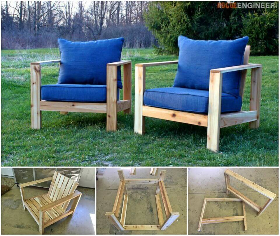Adorable DIY Outdoor Arm Chair