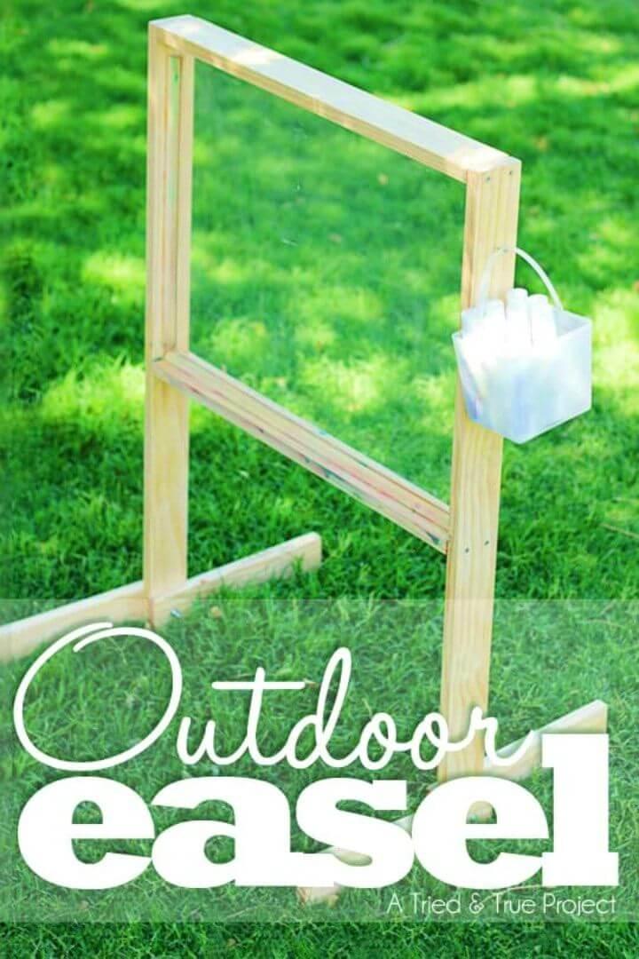 Adorable DIY Outdoor Easel
