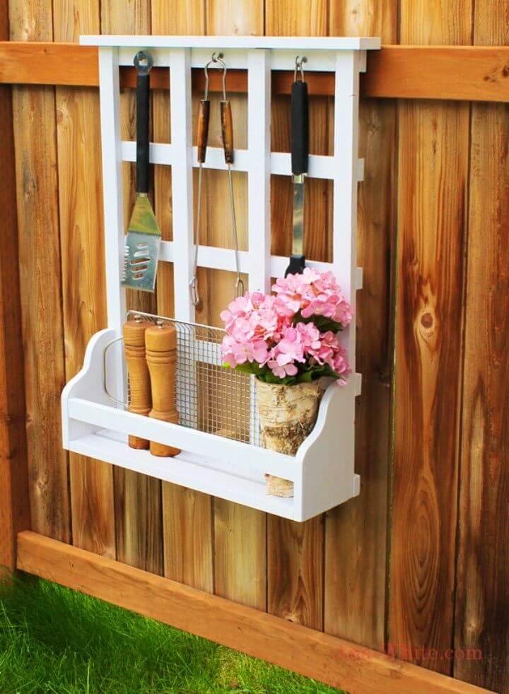 Adorable DIY Outdoor Window Shelf With Lattice