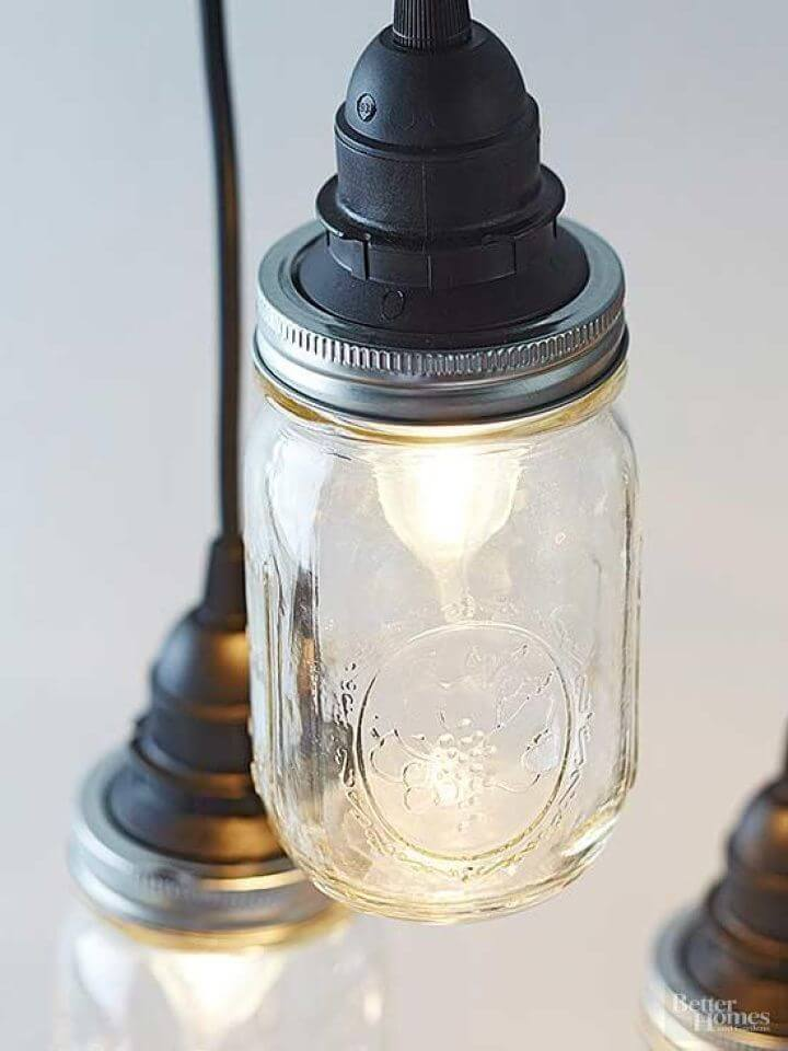 Adorable DIY Pendant Trio from Canning Jars