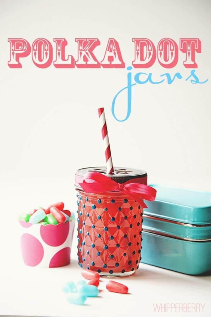 Adorable DIY Polka Dot Jars
