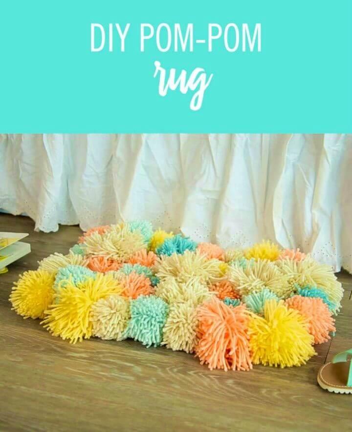 Adorable DIY Pom pom Rug