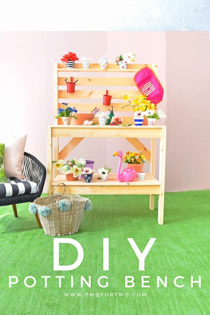Adorable DIY Potting Bench