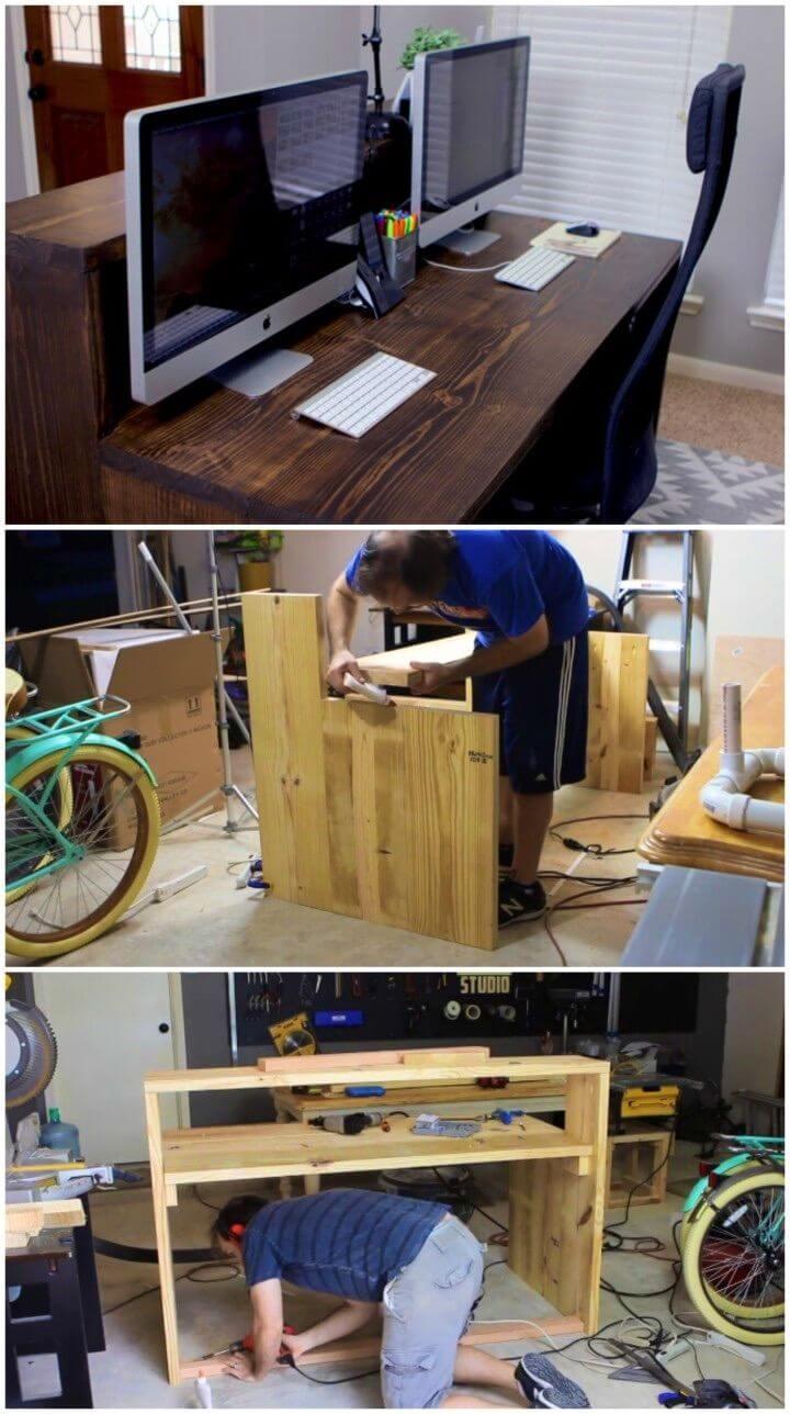 Adorable DIY Two level Desk
