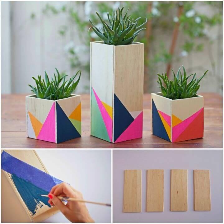 Adorable DIY Wooden Centerpiece Boxes
