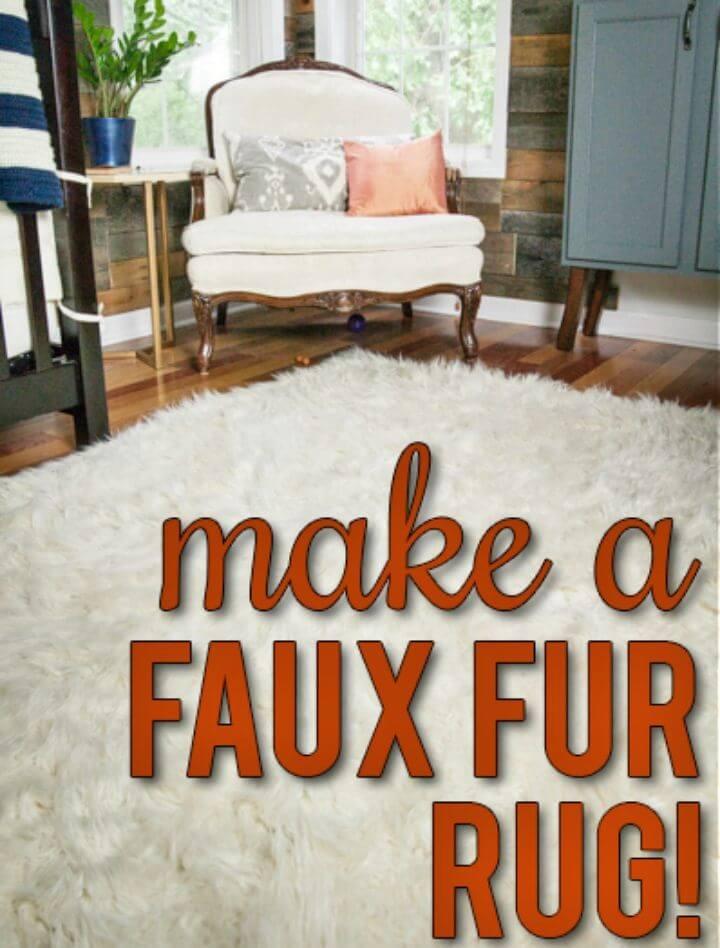 Amazing DIY Faux Fur Rug