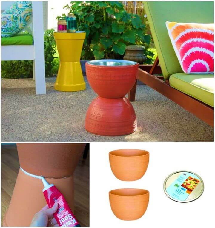 Amazing DIY Flower Pot Table