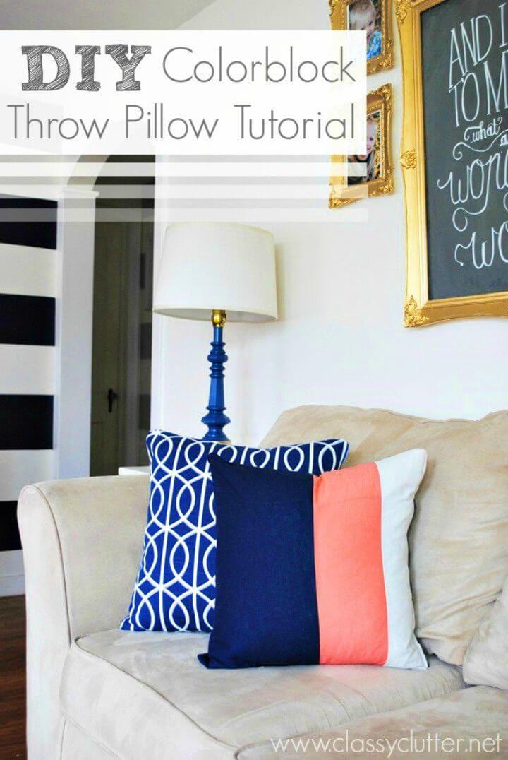 DIY Color Block Chalkboard Mason Jars, DIY, easy DIY, quick DIY, cheap DIY projects, DIY color blocks, color blocks, DIY color block art, color block technique, DIY throw pillow, DIY pillow, color block pillow.