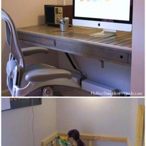 Awesome DIY Floating Desk Build