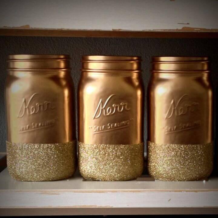 Awesome DIY Glitter Mason Jars
