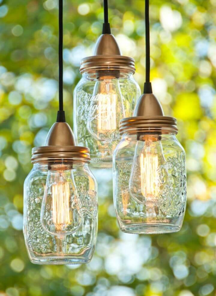 Awesome DIY Jar Lamps Craft