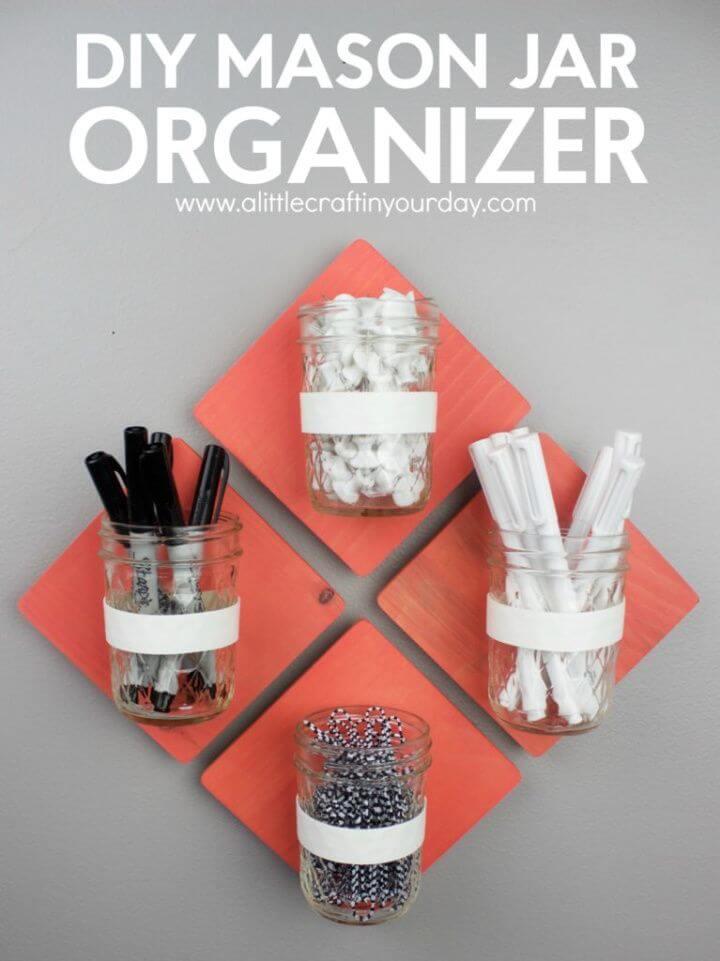 Awesome DIY Mason Jar Organizer