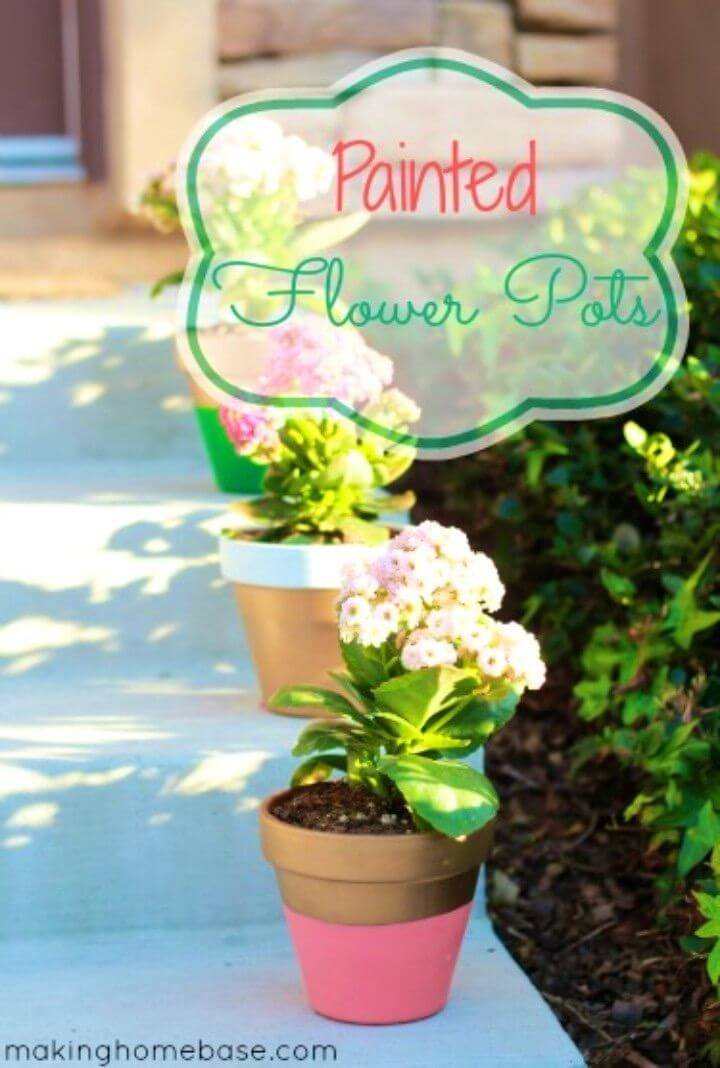 Awesome DIY Painted Flower Pots
