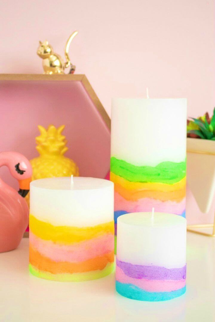 Awesome DIY Sand Art Candles