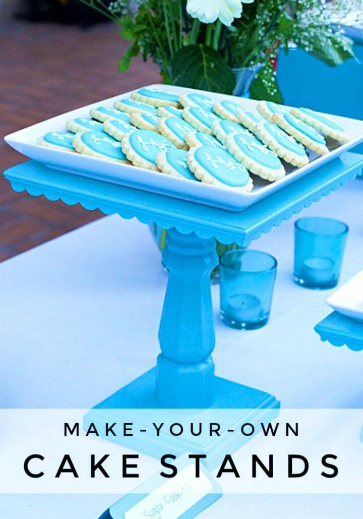 Awesome DIY Wooden Cake Stand
