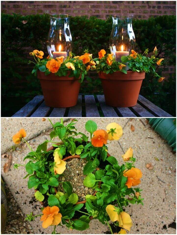 Beautiful DIY Potted Candle Planters