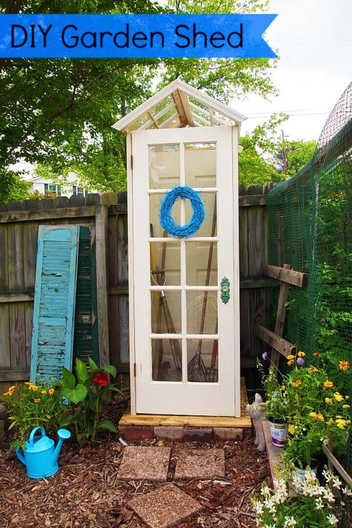 Build Little Garden Shed from Old Windows and Doors