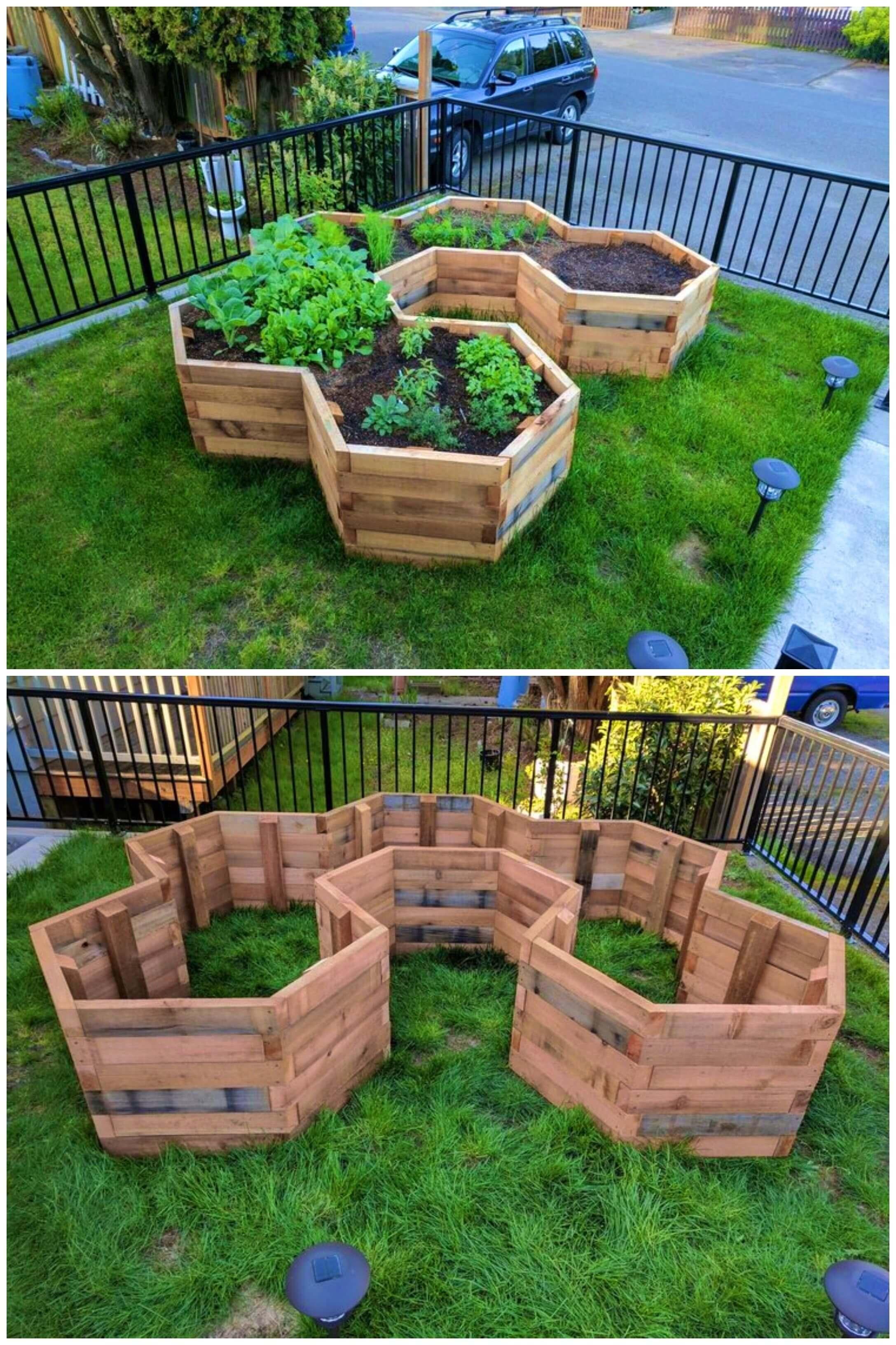 Build Your Own Hexagonal Garden Beds