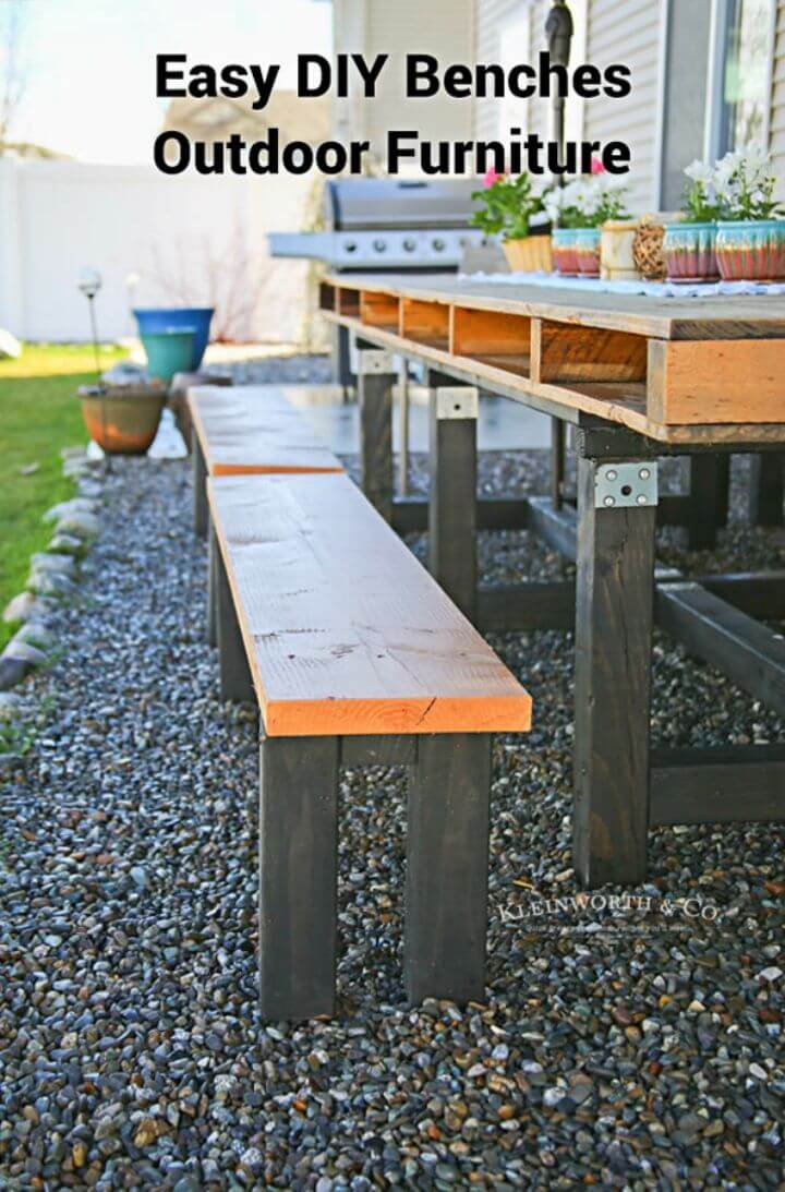 Build Your Own Outdoor Benches