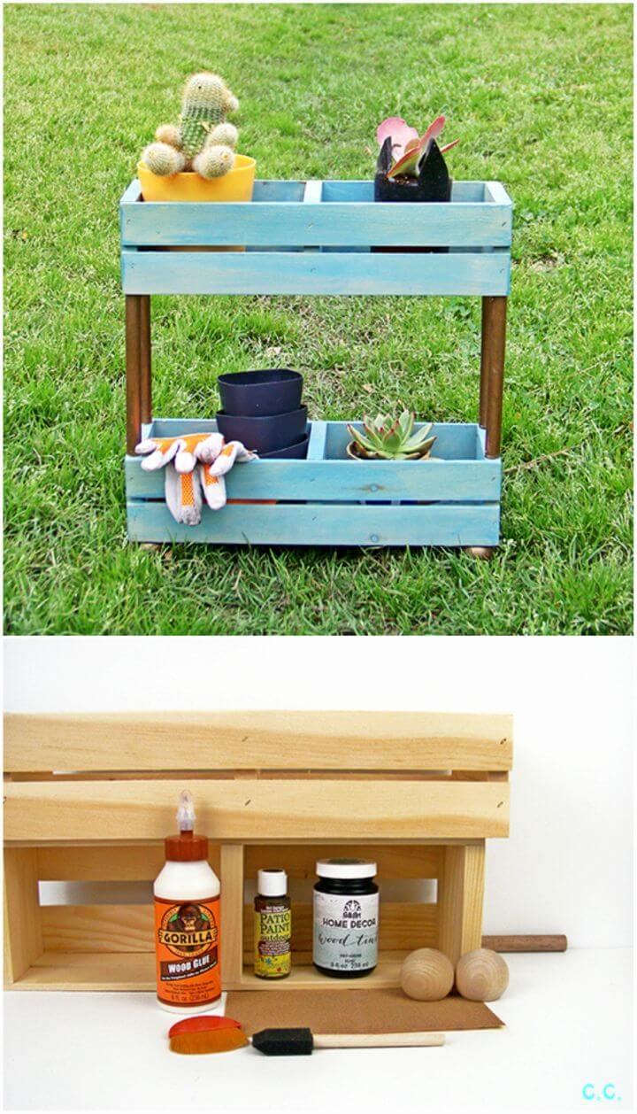 Build Your Own Tiered Garden Shelf