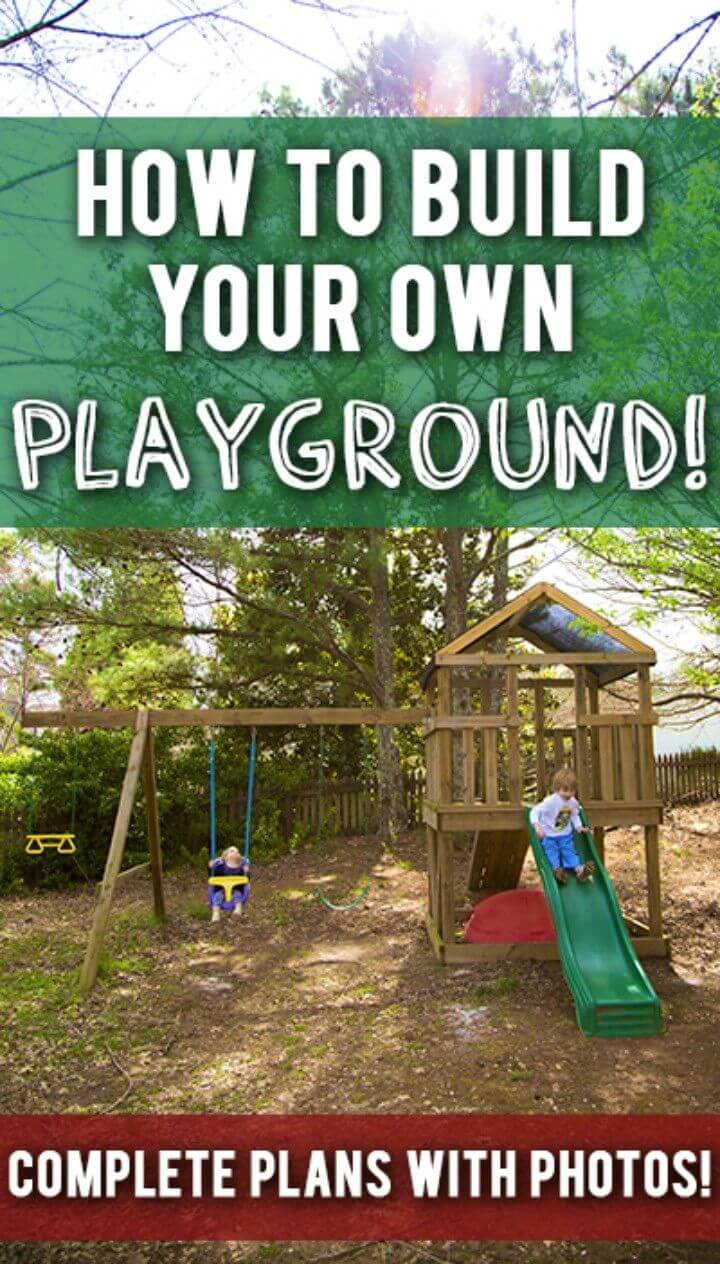 Build Your Own Wooden Tower and Slide Playset