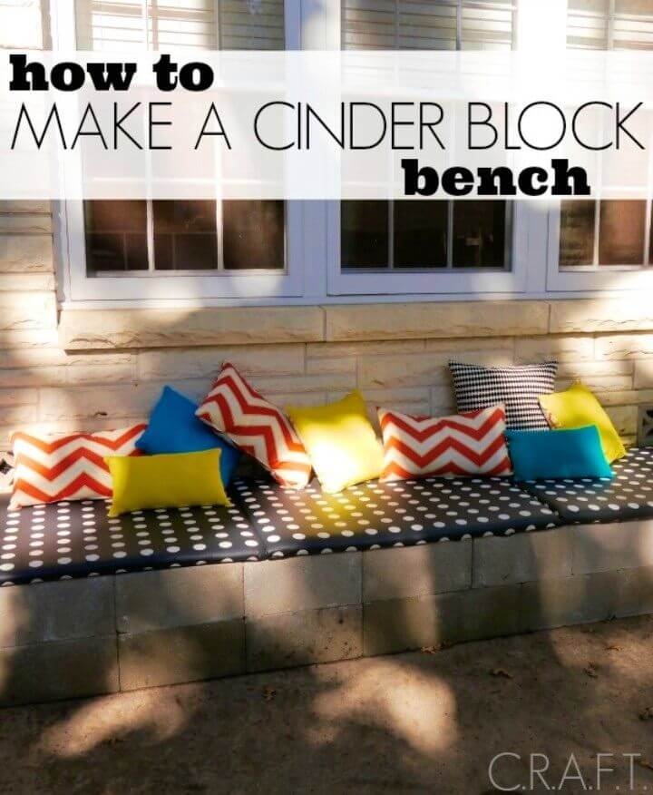Build a Backyard Bench Out Of Cinders