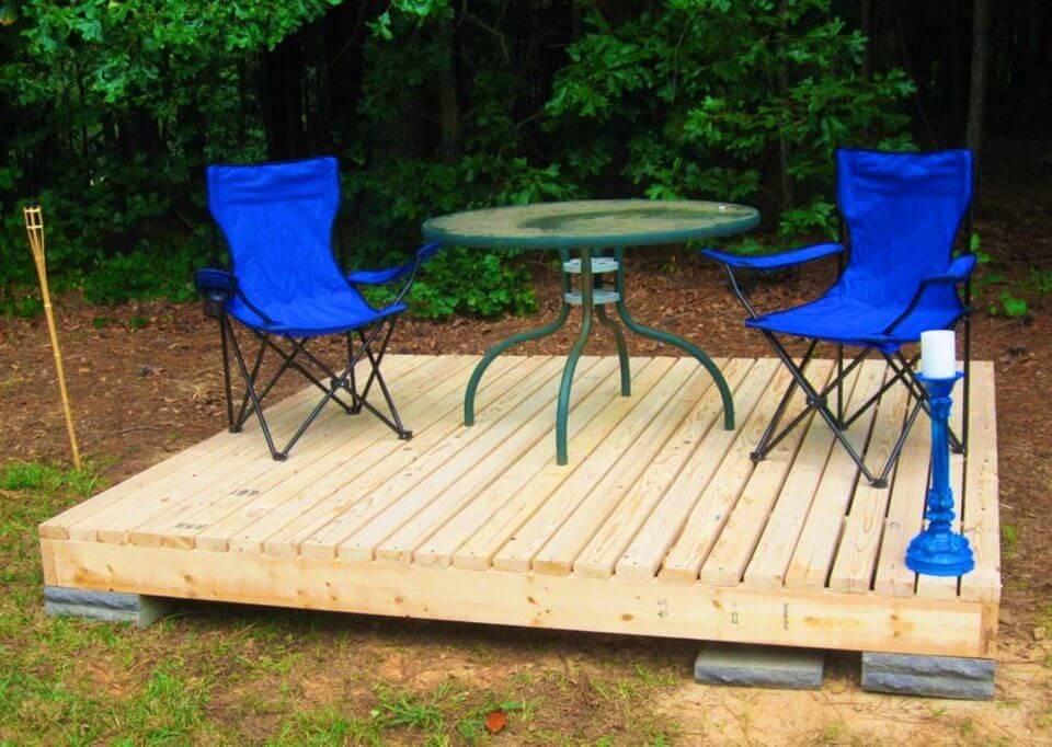 Build a Backyard Floating Deck