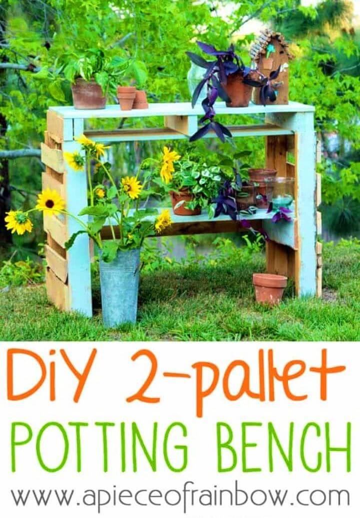 Build a Backyard Potting Bench form Two Pallet