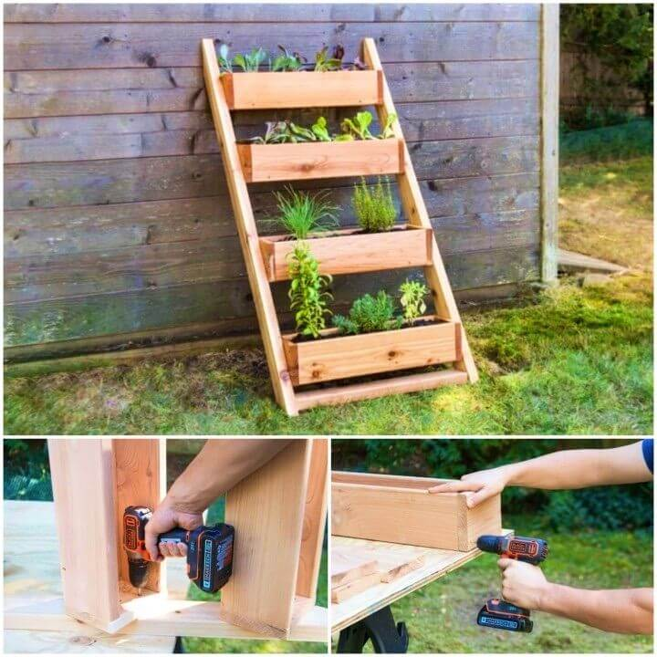 Build a Cedar Ladder Planter