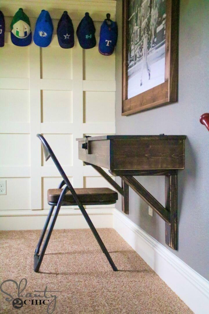 Build a Floating Desk With Storage