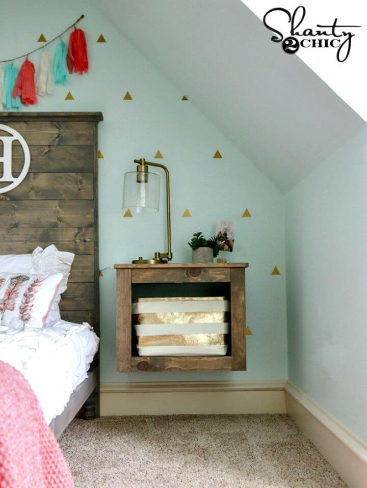Build a Floating Storage Nightstand
