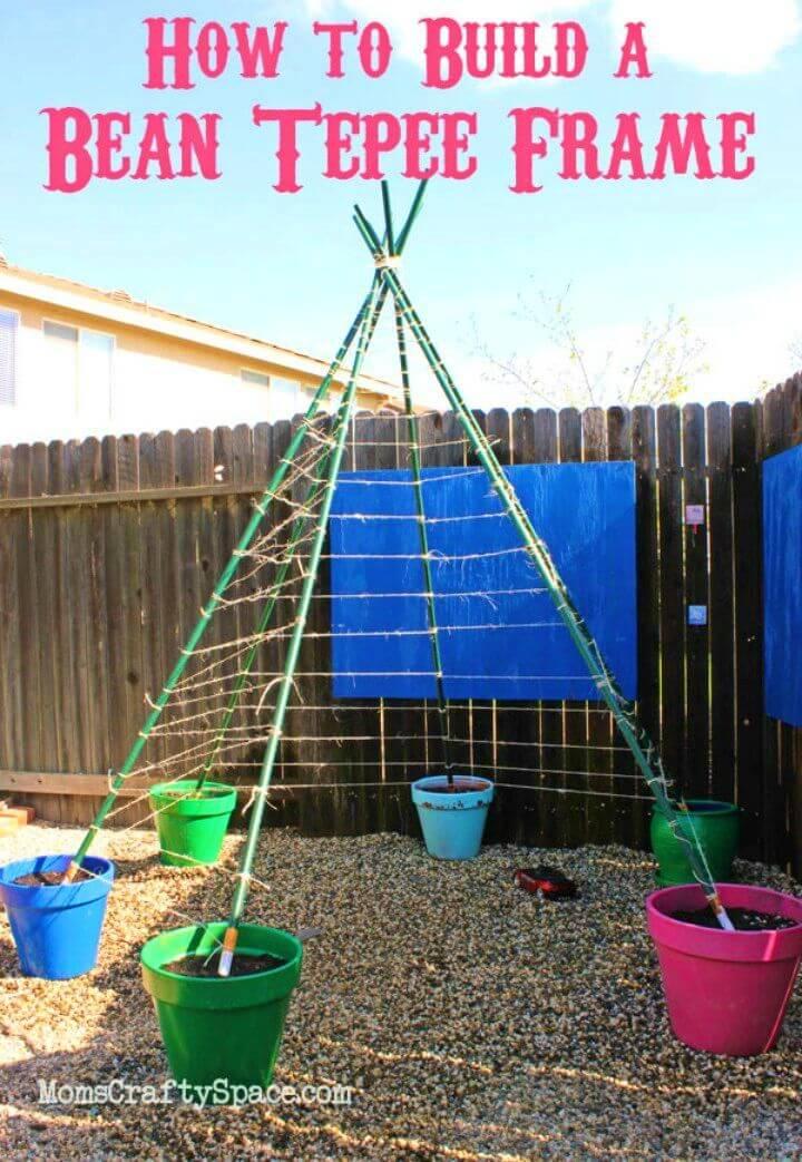 Build a Green Bean Tepee