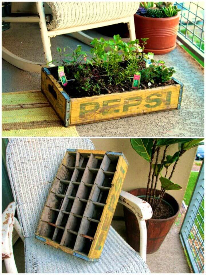 Build a Herb Garden Using Old Crates