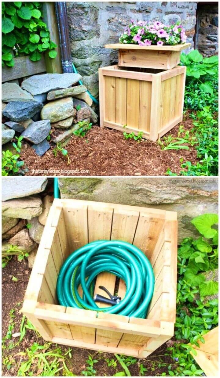 Build a Hose Hiding Planter