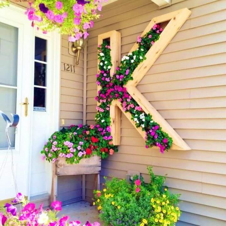 Build a Monogram Planter in Your Backyard