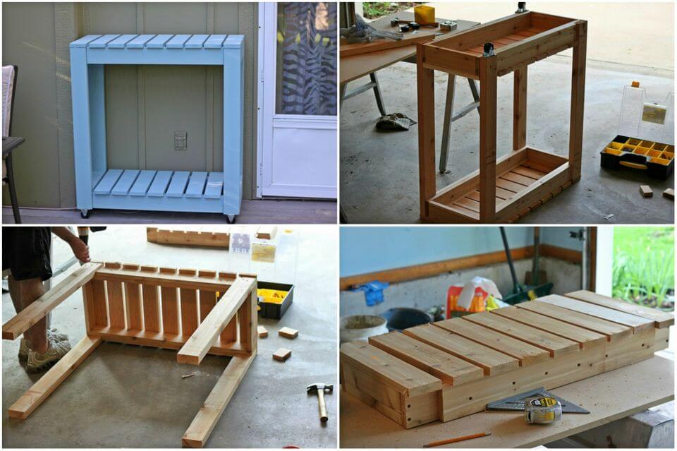 Build a Outdoor Rolling Cart