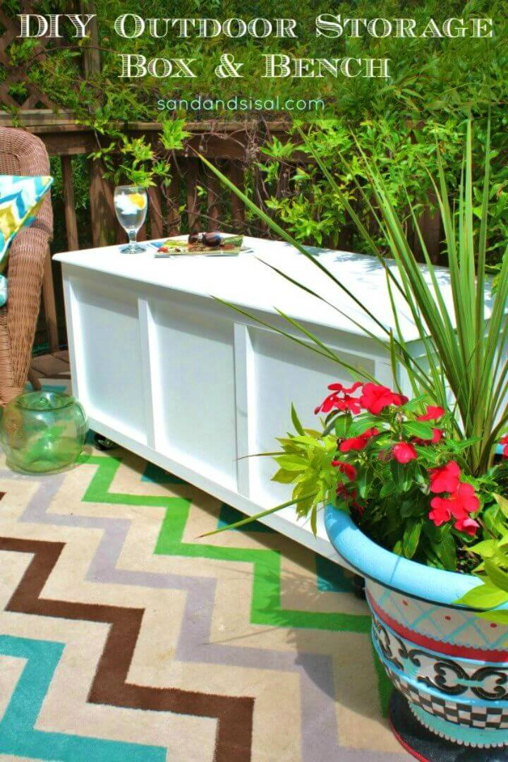 Build a Outdoor Storage Box Bench