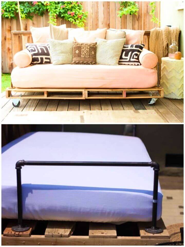 Build a Pallet Backyard Daybed
