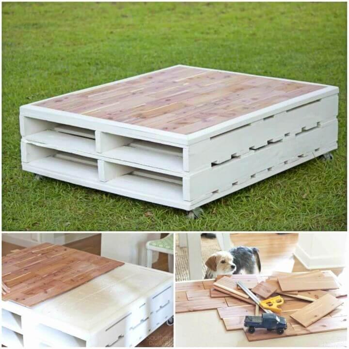 Build a Pallet Coffee Table for Garden