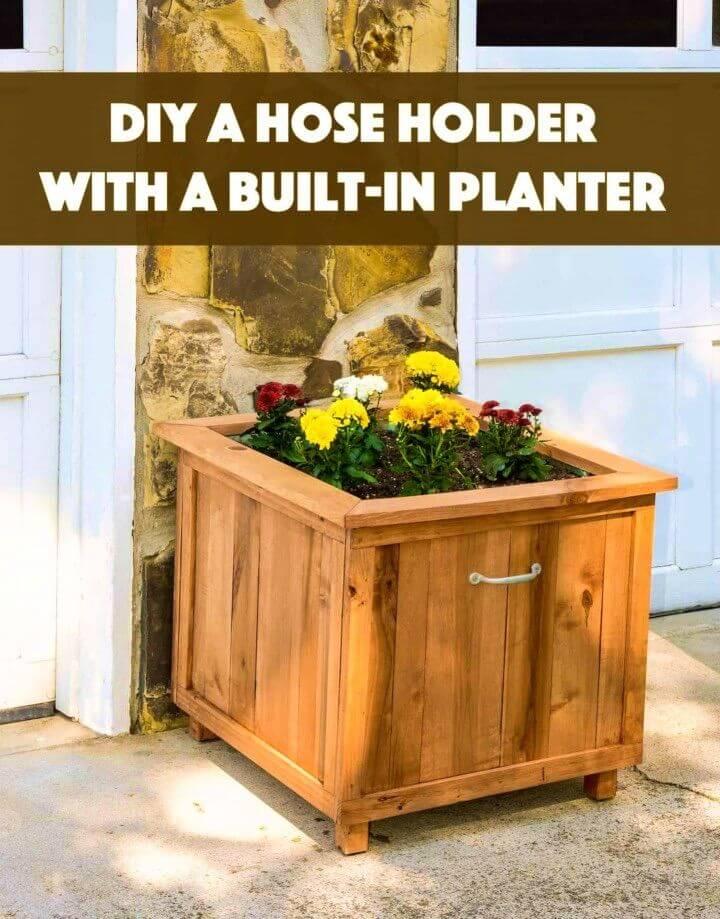Build a Pallet Wood Hose Holder With Planter