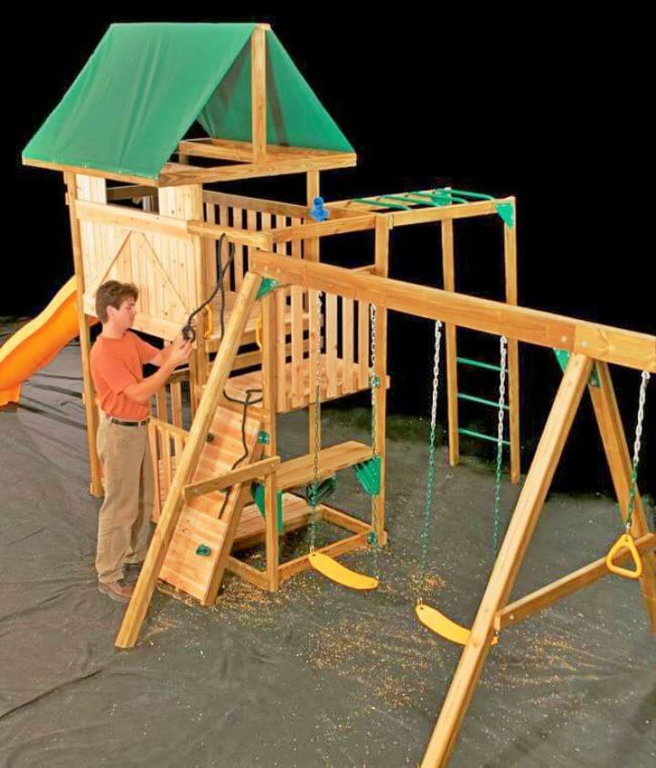 Build a Swing Set Backyard Playground