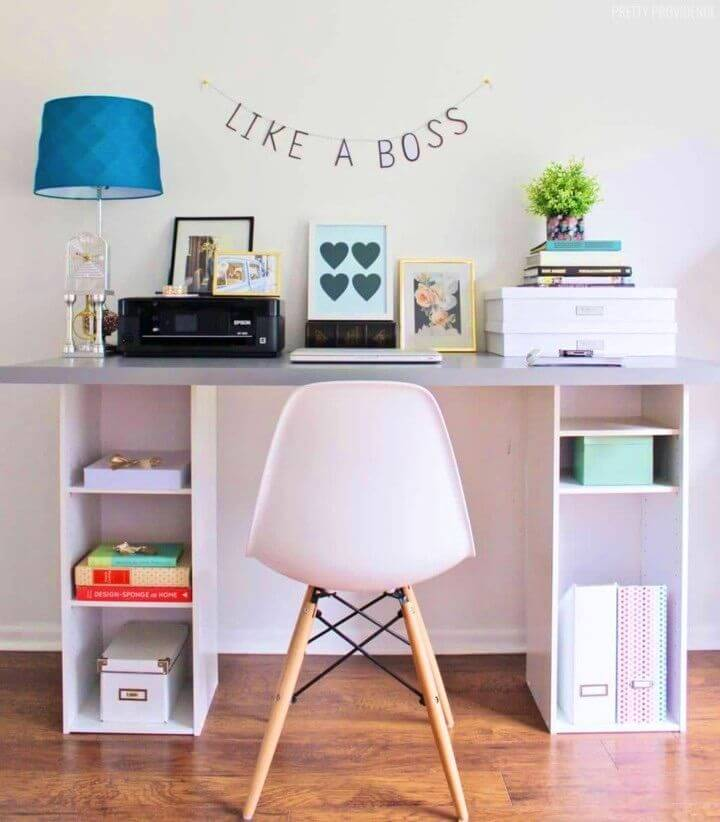 Cheap DIY Desk Top and Two Small Shelves