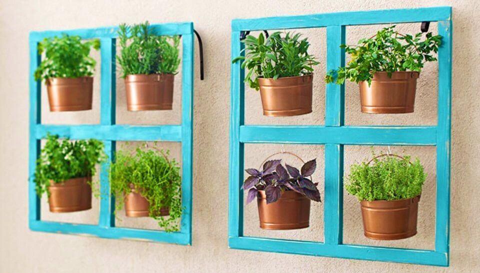 Create a Miniature Herb Garden In The Buckets