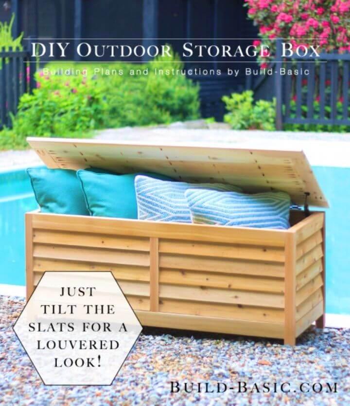Create a Stylish Slatted Deck Box