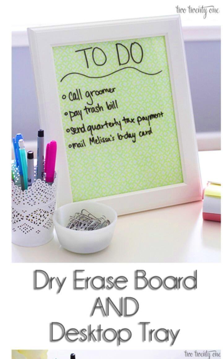 Create an Erase Board and Desktop Tray