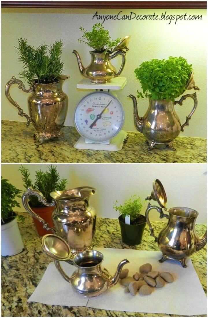 Cute DIY Kitchen Herb Garden