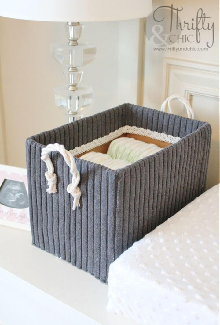 Cute DIY Storage Boxes from Old Boxes and Sweaters